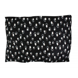 Rectangular cushion Fleece 91 x 70 x 4 cm black. leg pattern. Dodo Flamingo FL-61545 for dog