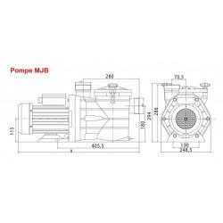 10 m3/h Pompe piscine auto-amorçante MJB Pompe Interplast SMJBHG075
