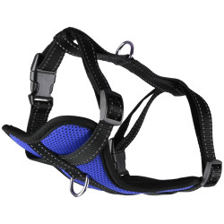 Flamingo Pet Products Harness Milou size S. blue color. for dog. adjustable from puppy to adult. dog harness