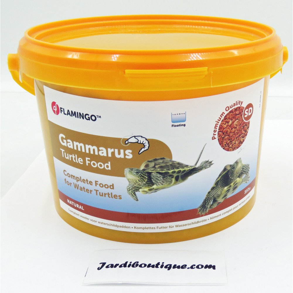 Flamingo 3 Litres, Gammarus aliment naturel pour tortue d'eau FL-404036 Nourriture
