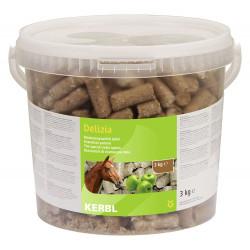 kerbl Friandise Delizia pomme 3 kg pour chevaux Friandise