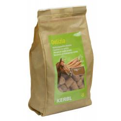kerbl Friandise Delizia carotte 1 kg pour chevaux Friandise