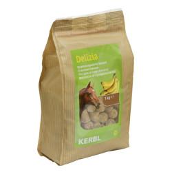 Friandise Delizia banane 1 kg pour chevaux Friandise kerbl KE-325005