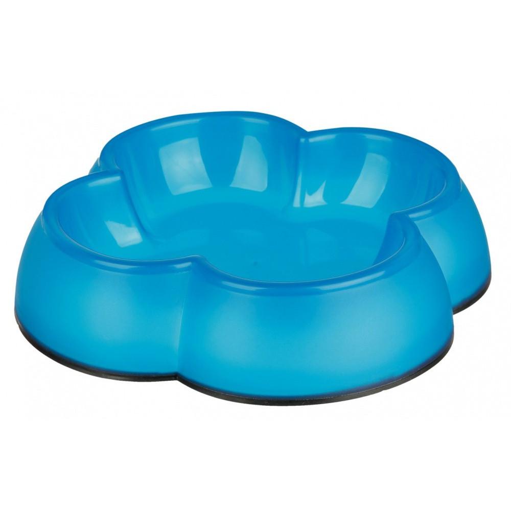 Gamelle plastique forme trèfle - coloris divers accessoire alimentaire Trixie TR-24430