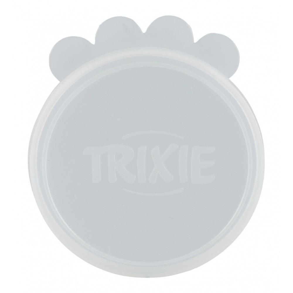 Couvercles ø 10.6 cm pour conserve alimentaire des animaux, en silicone. accessoire alimentaire Trixie TR-24554