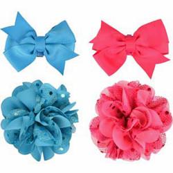 Accessoire pour collier noeud et fleur. bleu ou rose . pour chien Collier Flamingo FL-518992