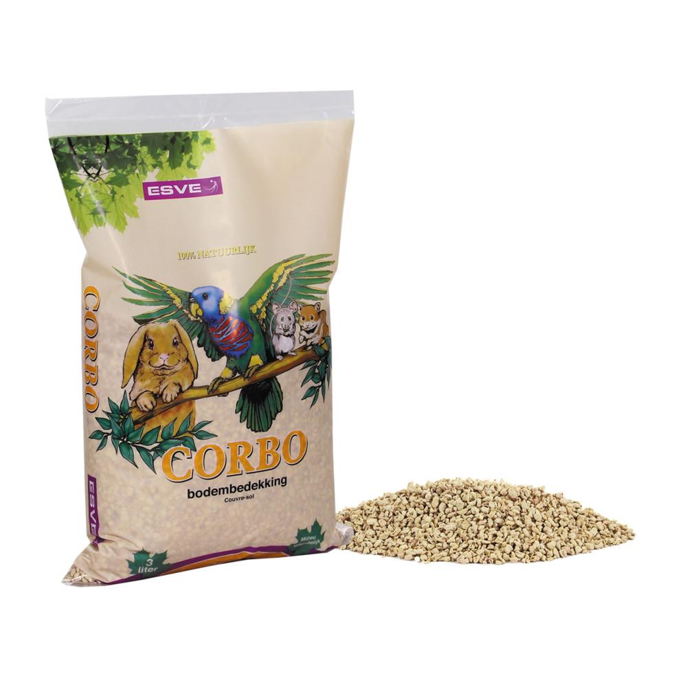 Vadigran Litière a bases de maïs CORBO 3 litres - 1 kg VA-14183 Foin, litière, copeaux