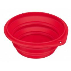 Trixie TR-25011 0.5 liter, a travel bowl, foldable silicone dog bowl - random color. Bowl, travel bowl