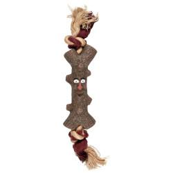 Flamingo Jouet pour chien Woody branche avec corde 15 cm FL-518019 Jouet