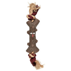 FL-518019 Flamingo Ramo de juguete para perro Woody con cuerda 15 cm Jeux