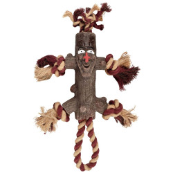 Flamingo FL-518018 Woody dog toy branch small man with rope 35 cm Jeux