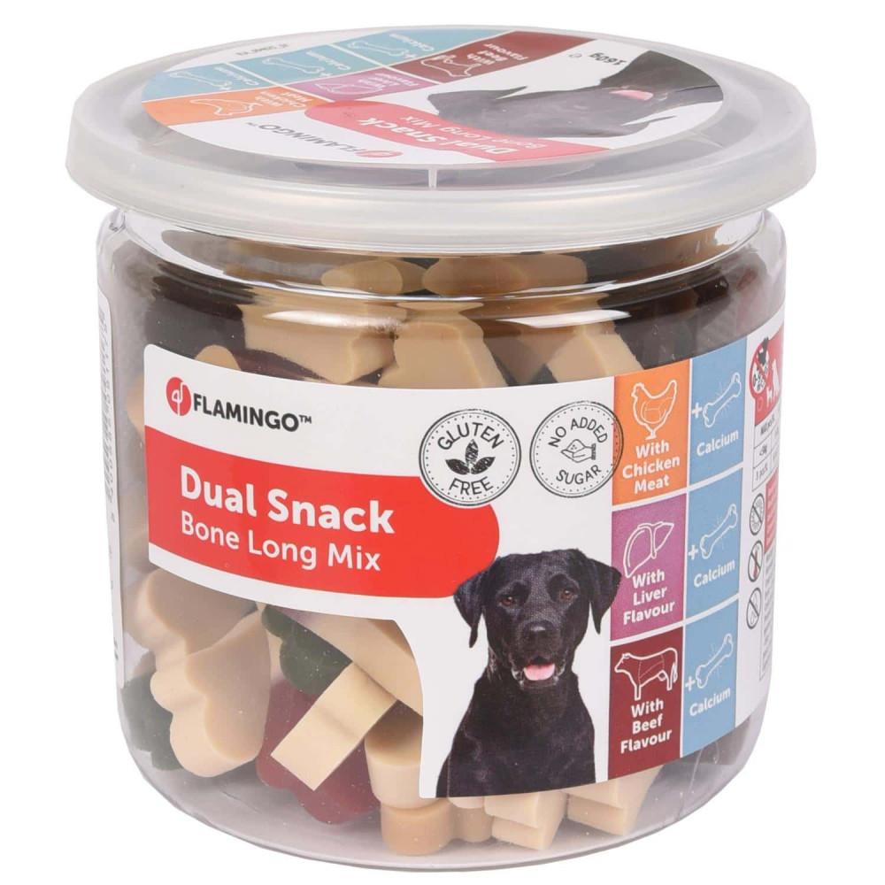 Friandise Snack pour chien au poulet avec saveur foie et boeuf - 160 gr Friandise chien  Flamingo FL-518570