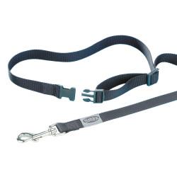 Laisse chien jogging nylon noir 105 cm -1.8 x 80 - 120 cm Canicross Nobby VA-78560