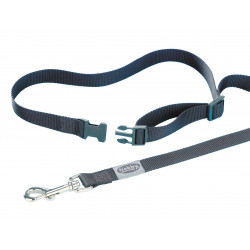 Nobby Schwarze Jogging-Leine aus Nylon 105 cm -1,8 x 80 - 120 cm VA-78560 Canicross