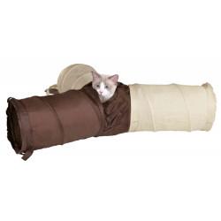 Tunnel de jeu 4 ouvertures pour chat ø 22 x 50 cm Jeux Trixie TR-4305