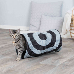 Trixie TR-4301 Play tunnel, ø 25 x 50 cm, for cats, grey colour. Games