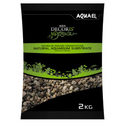 aquael Gravier Naturel Multicolore 3 – 5 mm – 2 kg VA-114044 Sols, substrats