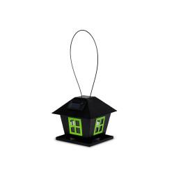 VA-15568 Vadigran Mangeoire IVY, couleur noir, Taille 17,3 X 17,3 X 16,1 cm. Alimentadores para exteriores