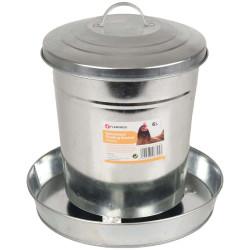 FL-310045 Flamingo Alimentador galvanizado, HEDWIG, 6 Litros - pollo, pollo Accesorio