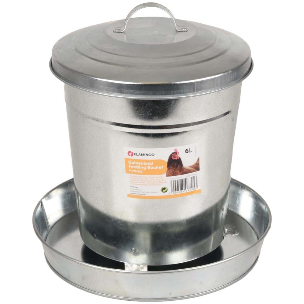 Flamingo FL-310045 Galvanized feeder, HEDWIG, 6 Liters - chicken, chicken Accessory