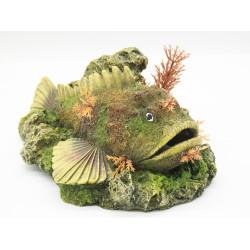 Vadigran poisson avec diffuseur de bulle 210 x 145 x 90 mm décoration aquarium VA-15253 Décoration et autre