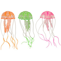 A Fluorescent Medusa aquarium decoration 5 x 15 cm Decoration and other Flamingo FL-410098