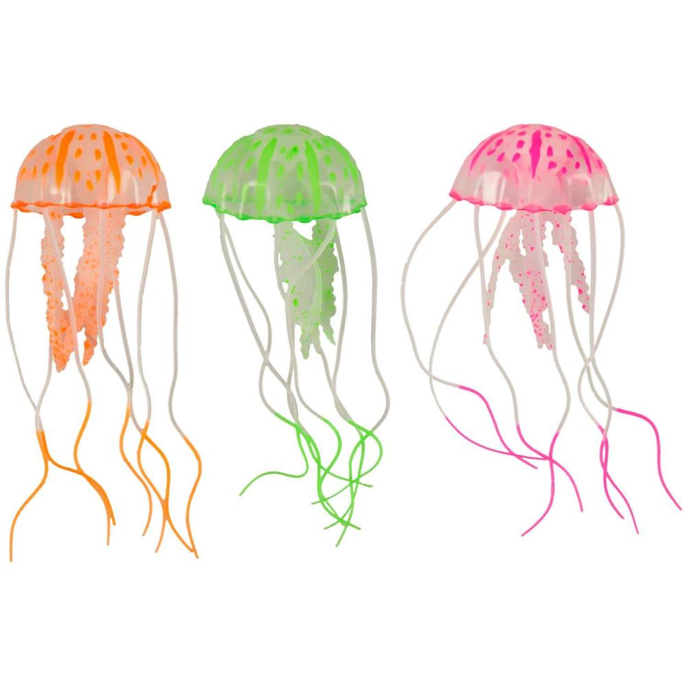 A Fluorescent Medusa aquarium decoration 5 x 15 cm Decoration and other Flamingo FL-410098