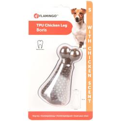 Jouet pour chien forme cuisse de poulet et odeur poulet S 10 cm Jouet Flamingo FL-518658