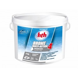 HTH SC-AWC-500-0228 Multifunction Bromine 4 Action - 20 g tablet - HTH 5Kg SPA