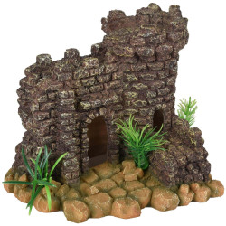 Castle ruin 20 x 17 x 17 x 17 cm for aquarium Decoration and other Flamingo FL-410194