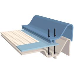 Plateau éducateur pour chiots M 60 x 45 cm + 10 tapis absorbant éducation propreté chien Flamingo FL-507675