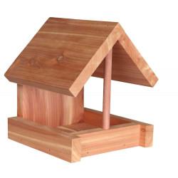 Trixie Vogelfutterautomat aus Holz 16 x 15 x 13 cm TR-55844 Outdoor-Feeder