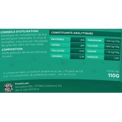 Food for reptiles, turtles, salamanders, frogs, granules 100% insects - 110 grams New food GR2-110....