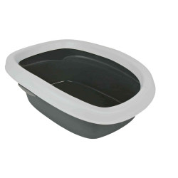 Trixie TR-40111 Carlo litter box, with rim 31 × 14 × 43 cm grey. for cats Litter boxes
