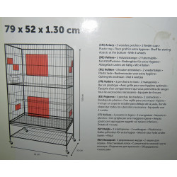 Flamingo FL-110227 White sumba aviary 79 x 52 x 130 cm. for birds Cages, aviaries, nest boxes