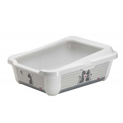 Litter tray 51 x 39 x 19 cm Hercules Cats in Love. for cats Litter tray Flamingo FL-1033370