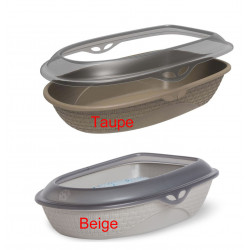 Bama pet FL-560611 Litter tray SABBIA 59,5 x 40,3 height 17,9 cm for random colour cat Litter boxes