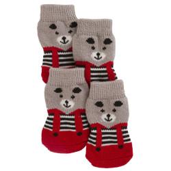 4 Chaussettes pour chien Bruno 3 x 7.5 cm vêtement chien kerbl KE-81418