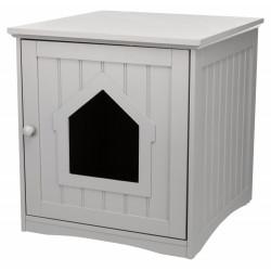 Trixie Versteckte Hütte graue Katzentoilette für Katzen 49 x 51 x 51 cm TR-40291 wurfzubehör