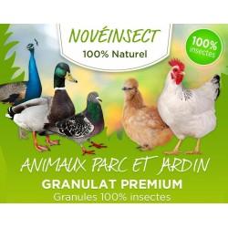 Fütterung von getrockneten Larvengranulaten 110 Gramm Noveland Food GR2-110-APJ