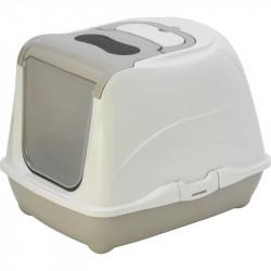 LOKI classic M 38 x 50 x 37 cm Maison de toilette pour chat. Beige. Maison de toilette Flamingo FL-560730