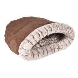 FL-560757 Flamingo SNOOZZY saco de dormir marrón para gatos. 50 x 55 x 17 cm Dormir
