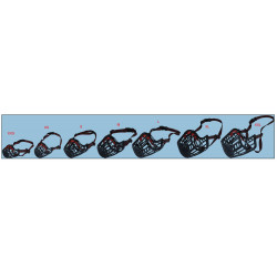 Flamingo FL-519652 Muzzle SILAS XXS black 19 cm 27-34 cm dog training