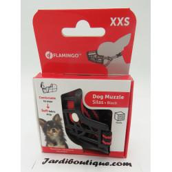Flamingo Muselière SILAS XXS noir 19 cm 27-34 cm. pour chien FL-519652 dressage chien