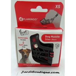 FL-519653 Flamingo Hocico SILAS XS negro 24 cm 30-38 cm. para perros. adiestramiento de perros