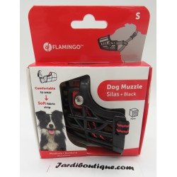 Flamingo FL-519654 Muzzle SILAS S black 26 cm 31-41 cm. for dogs. dog training