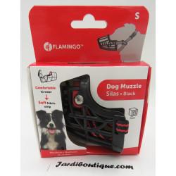 Flamingo Pet Products SILAS S black muzzle. 26 cm 31-41 cm. for dog. Muselière