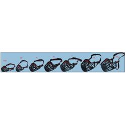 Flamingo FL-519654 Muzzle SILAS S black 26 cm 31-41 cm. for dogs. dog training