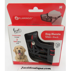 Flamingo FL-519655 Muzzle SILAS M black 28 cm 36-47 cm. for dogs. Muselière