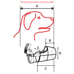 Flamingo FL-519655 Muzzle SILAS M black 28 cm 36-47 cm. for dogs. dog training